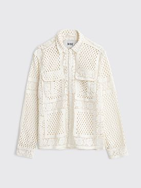 Bode Crochet Lace Havana Shirt White
