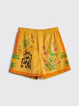 Bode Senior Cords Rugby Shorts Tan