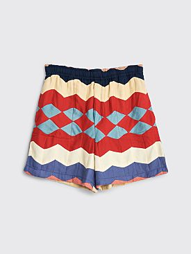 Bode Chevron Quilt Shorts Multi Color