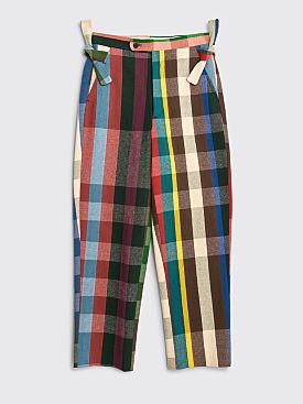 Bode Workshop Plaid Trousers Spring Multi Color