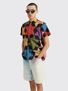 Bode Rainbow Star Quilt Shirt Multi Color