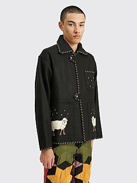 Bode Farm Souvenir Jacket Black