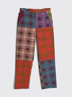 Bode Plaid Corduroy Pants Multi Color