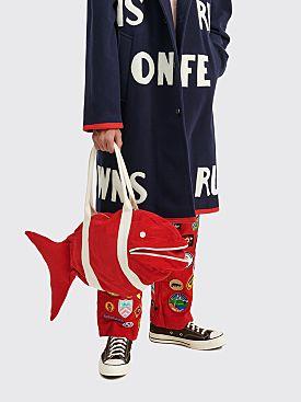 Bode Corduroy Fish Bag Red