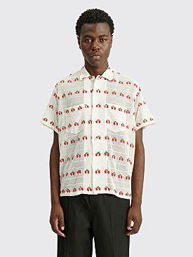Bode Sheer Cherry Shirt White / Red