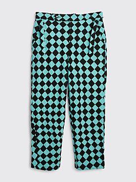 Bode Racer Checker Pants Black / Blue