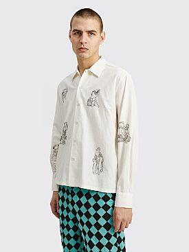 Bode Bacchus LS Graphic Shirt White