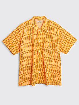 Bode Wavy Chenille Shirt Orange