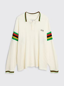 Bode Cycling Polo Sweater White