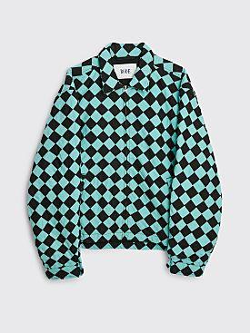 Bode Racer Checker Jacket Black / Blue