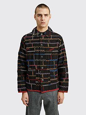 Bode Noire Crazy Quilt Jacket Black