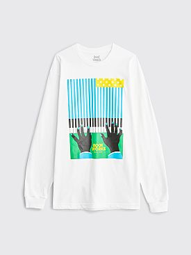 Book Works Flag LS T-shirt White