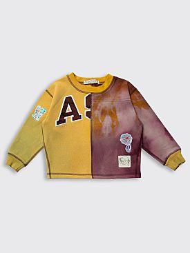 BORN FREE Kid's Sweatshirt 5-7 Years Yellow / Burgundy