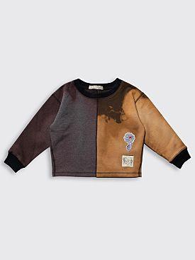 BORN FREE Kid's Sweatshirt 5-7 Years Purple / Brown