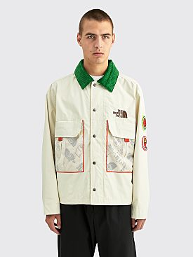 The North Face x Brain Dead Oversized Mountain Chore Coat Vintage White