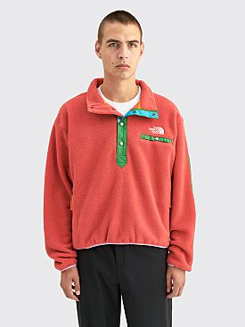 The North Face x Brain Dead Placket Pullover Sweatshirt Sunbaked Red