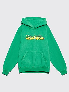 Brain Dead Free Jazz Hooded Sweatshirt Kelly Green