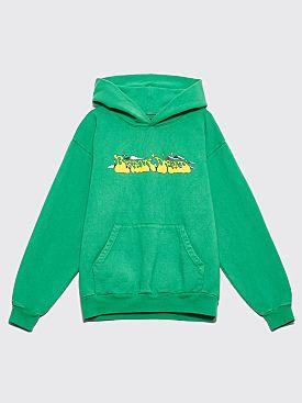 Brain Dead Free Jazz Hooded Sweatshirt Kelly Green
