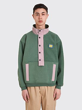 Brain Dead Mock Neck Pullover Sweatshirt Green