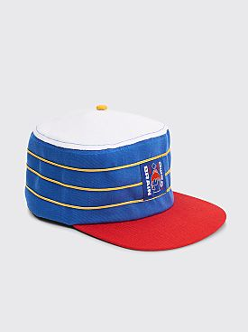 Brain Dead Pill Box Hat Navy / Natural / Red