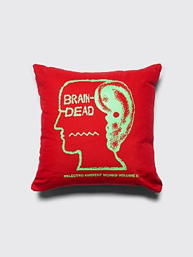 Brain Dead Ambient Pillow Red
