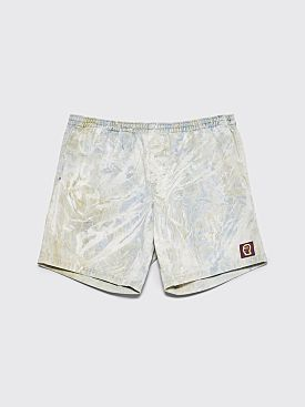 Brain Dead Beach Shorts Blue Marble Dye
