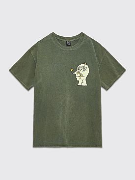 Brain Dead Graffiti Letter T-shirt Green