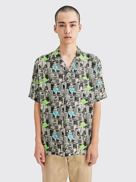 Brain Dead Snail Print Shirt Multi Color