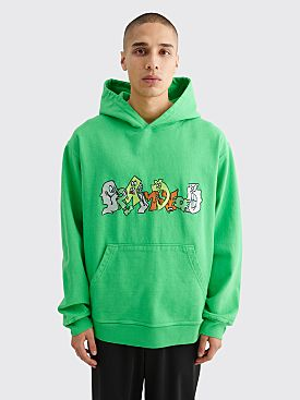 Brain Dead Embroidered Graffiti Sweatshirt Green