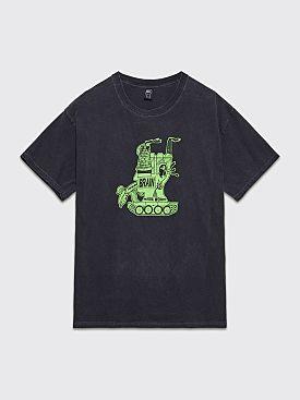 Brain Dead Media Works T-shirt Washed Black