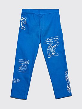 Brain Dead Printed Canvas Carpenter Pants Blue