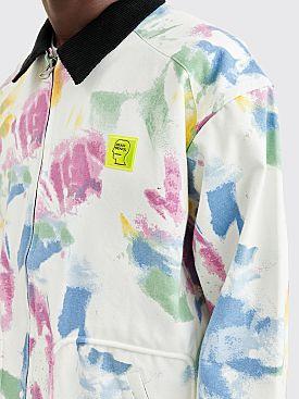 Brain Dead Dry Pigment Dye Canvas Harrington Jacket White