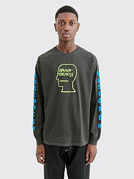Brain Dead Vehicle LS T-shirt Black
