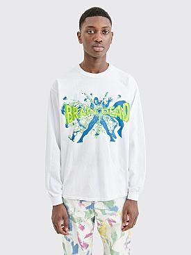 Brain Dead Blammin LS T-shirt White