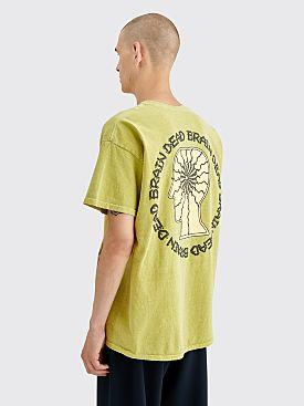 Brain Dead Migraine T-shirt Olive