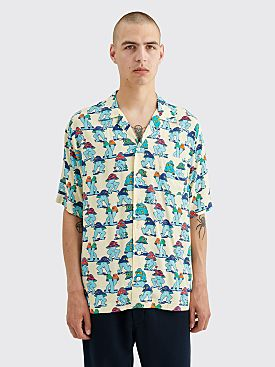 Brain Dead Mushroom Hawaiian Shirt Natural