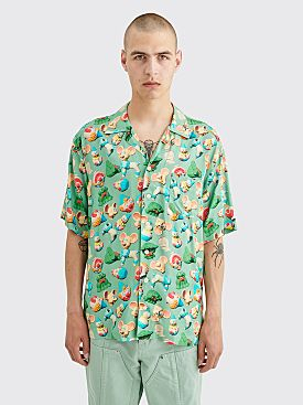 Brain Dead Steve Smith Hawaiian Shirt Seafoam