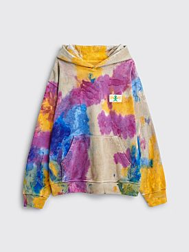 Brain Dead Tie Dye Shout PVC Hooded Sweatshirt Multi Color