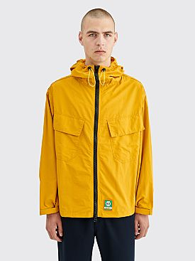 Brain Dead Zip Front Anorak Jacket Gold