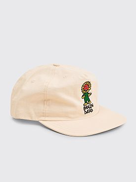 Brain Dead Floor Ripstop Five Panel Hat Natural