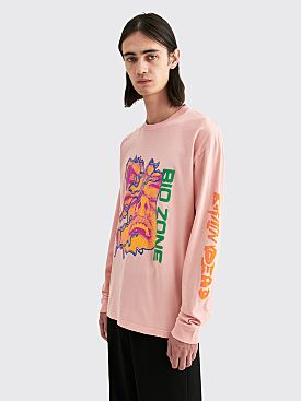 Brain Dead Bio Zone Long Sleeve T-shirt Pink