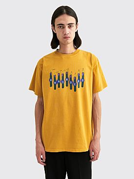 Brain Dead Candles T-shirt Yellow