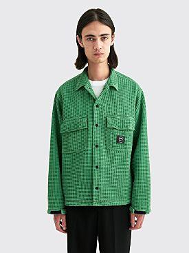 Brain Dead Waffle Snap Front Shirt Mint