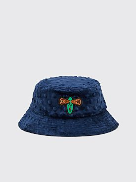 Brain Dead Embossed Fur Bucket Hat Navy