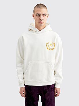 Brain Dead Folk Healing Hooded Sweatshirt White