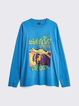 Brain Dead Puppet LS T-shirt Blue