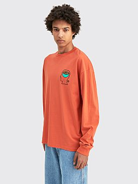 Brain Dead Earthworks Long Sleeve Shirt Orange