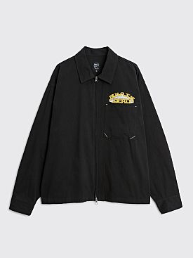Brain Dead Fast Life Zip Shirt Jacket Black