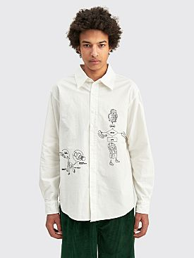 Brain Dead Tutorials Poplin Shirt White