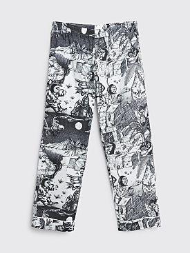 Brain Dead Wild Things Pajama Pants Black / White